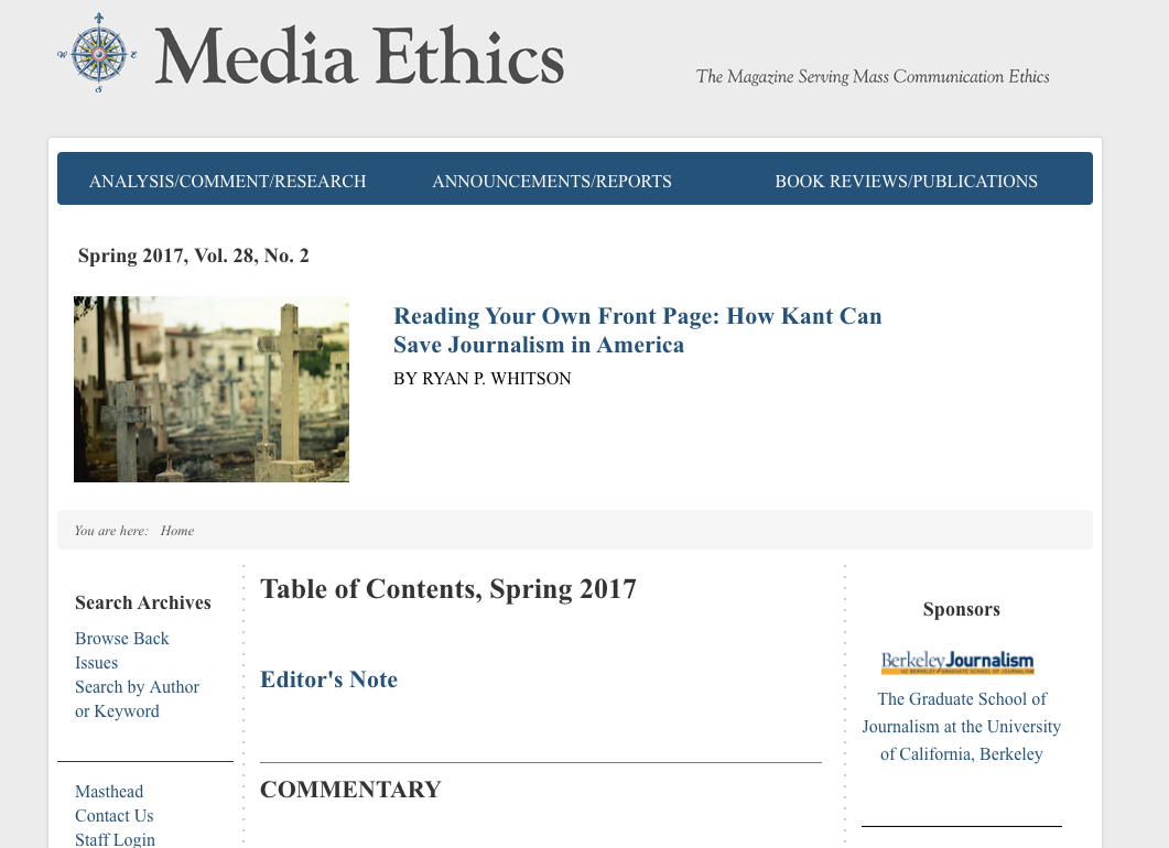 Media Ethics Magazine